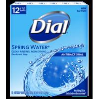 Dial Antibacterial Deodorant Bar Soap, Spring Water, 4 Ounce Bars, 12 Count