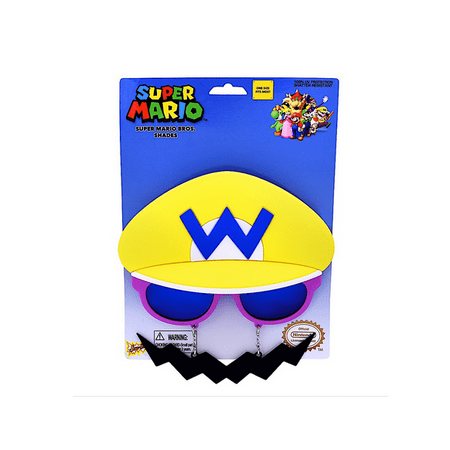 Party Costumes - Sun-Staches - Nintendo Super Mario - Wario New SG2570 - Nintendo Characters Costumes