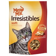 Meow Mix Irresistibles Cat Treats, Soft with White Meat Chicken, 3-Ounce