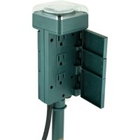 GE 6-Outlet Outdoor Yard Stake Timer, 29972