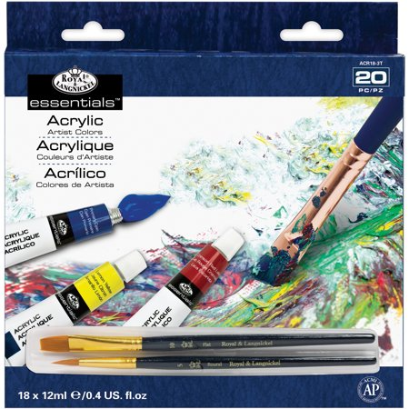 Royal langnickel essentials acrylic paint set 18pk for Craft essentials acrylic paint