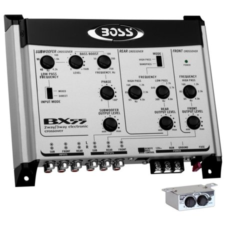 BOSS AUDIO BX55 2/3-Way Pre-Amp Electronic Crossover w/ Remote Subwoofer Level