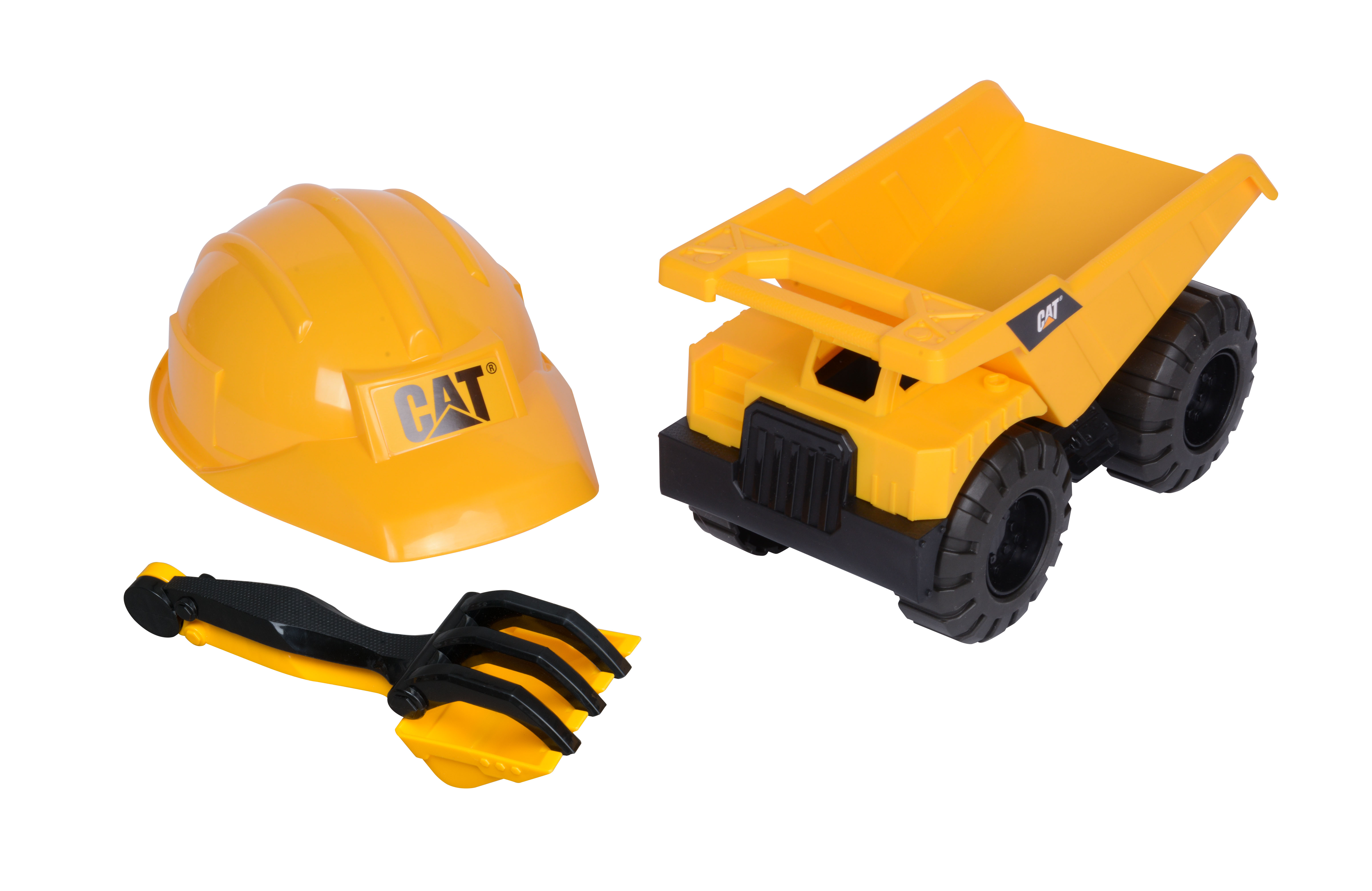 Caterpillar Tough Tracks Construction Crew Dump Truck Sand Set with Rake, Shovel and... by Toy State International Limited