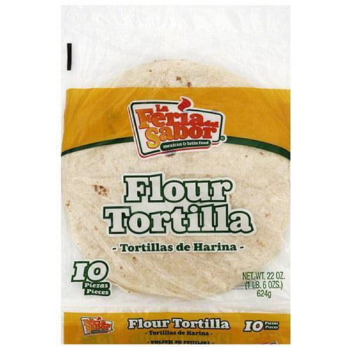 La Feria Del Sabor Burrito Flour Tortillas, 24 oz (Pack of 12) by Generic