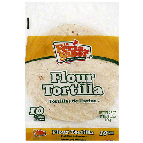 La Feria Del Sabor Burrito Flour Tortillas, 24 oz (Pack of 12)