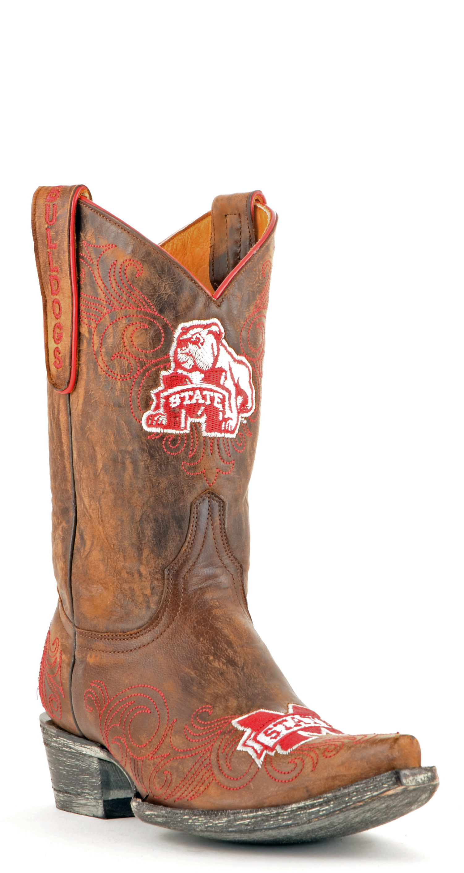 "Gameday Boots Women's 10"" Short Leather Mississippi State Cowboy Boots by GameDay Boots"