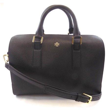 NEW WOMEN'S TORY BURCH (47390) EMERSON ROBINSON BLACK SATCHEL HANDBAG PURSE BAG ()