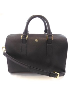 cceb5bf382d Product Image NEW WOMEN S TORY BURCH (47390) EMERSON ROBINSON BLACK SATCHEL  HANDBAG PURSE BAG