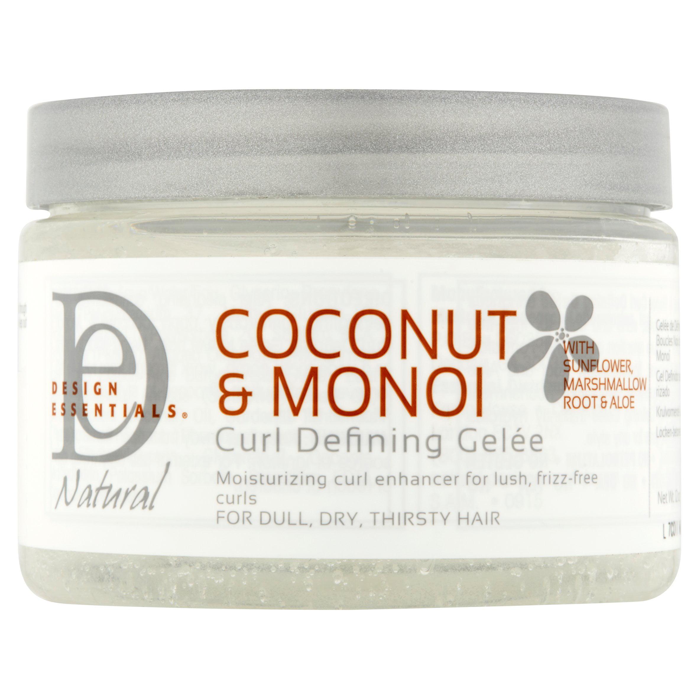 Design Essentials Natural Coconut Monoi Curl Defining Gelée 12 Oz