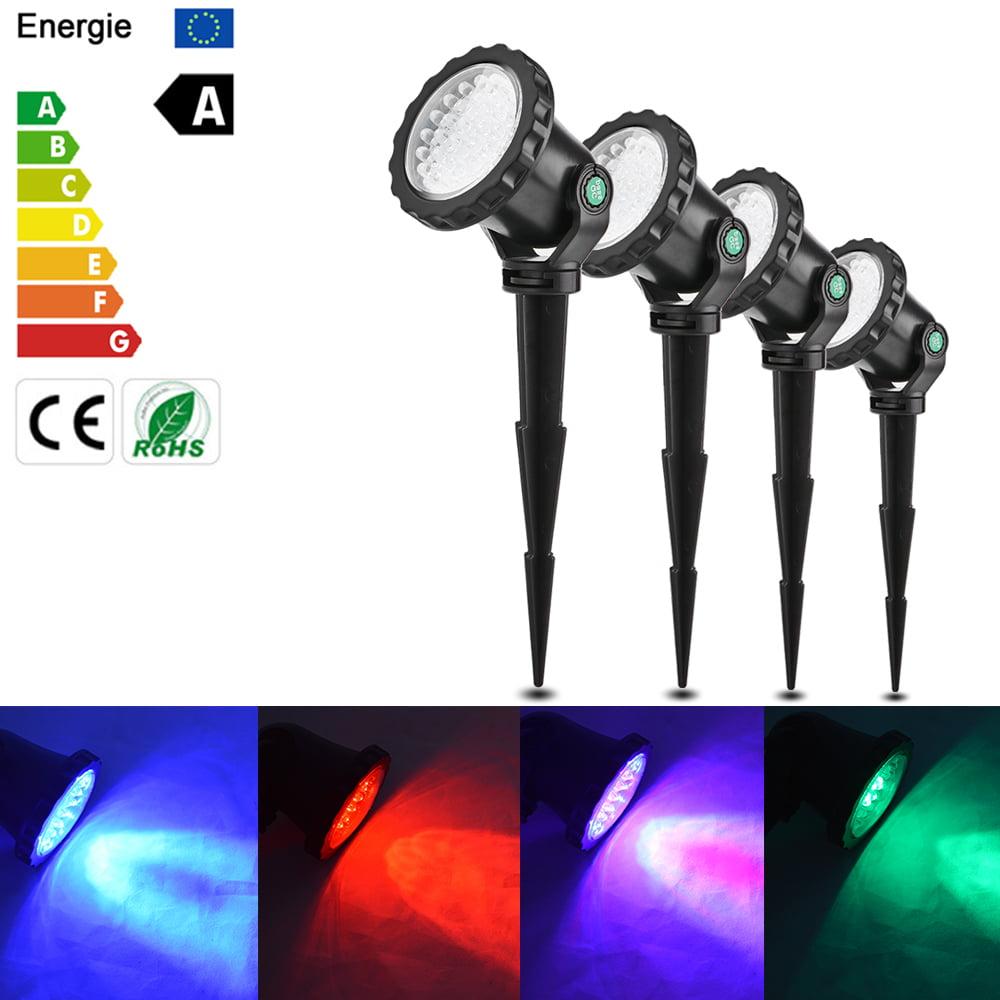 10W Waterproof 4Pcs RGB LED Submarine Lights Underwater P...
