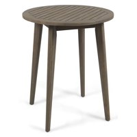 Outdoor Bistro Table in Gray Finish