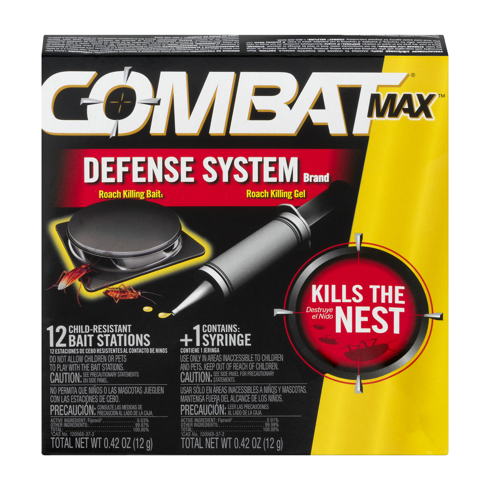 Combat Max Defense System Roach Killing Bait and Gel, 12 Count