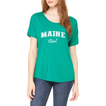Artix Me Girl Maine Map Portland Augusto Flag Black Bears Home University Of Maine Womens Slouchy T Shirt Clothes
