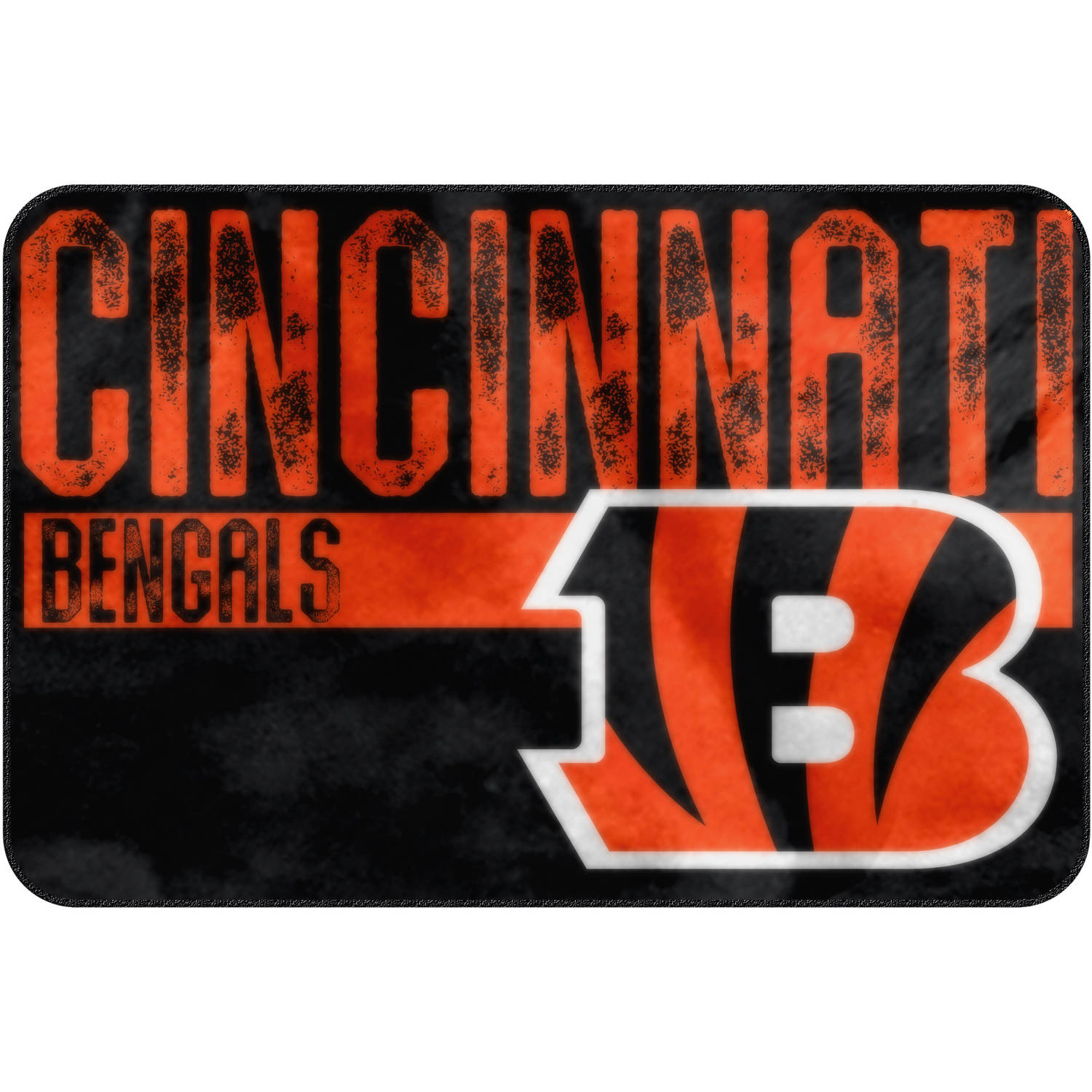 "NFL Cincinnati Bengals ""Worn Out"" Mat, 20"" x 30"""