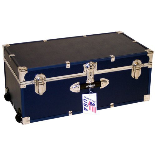 Locking Trunk with Wheels-Navy