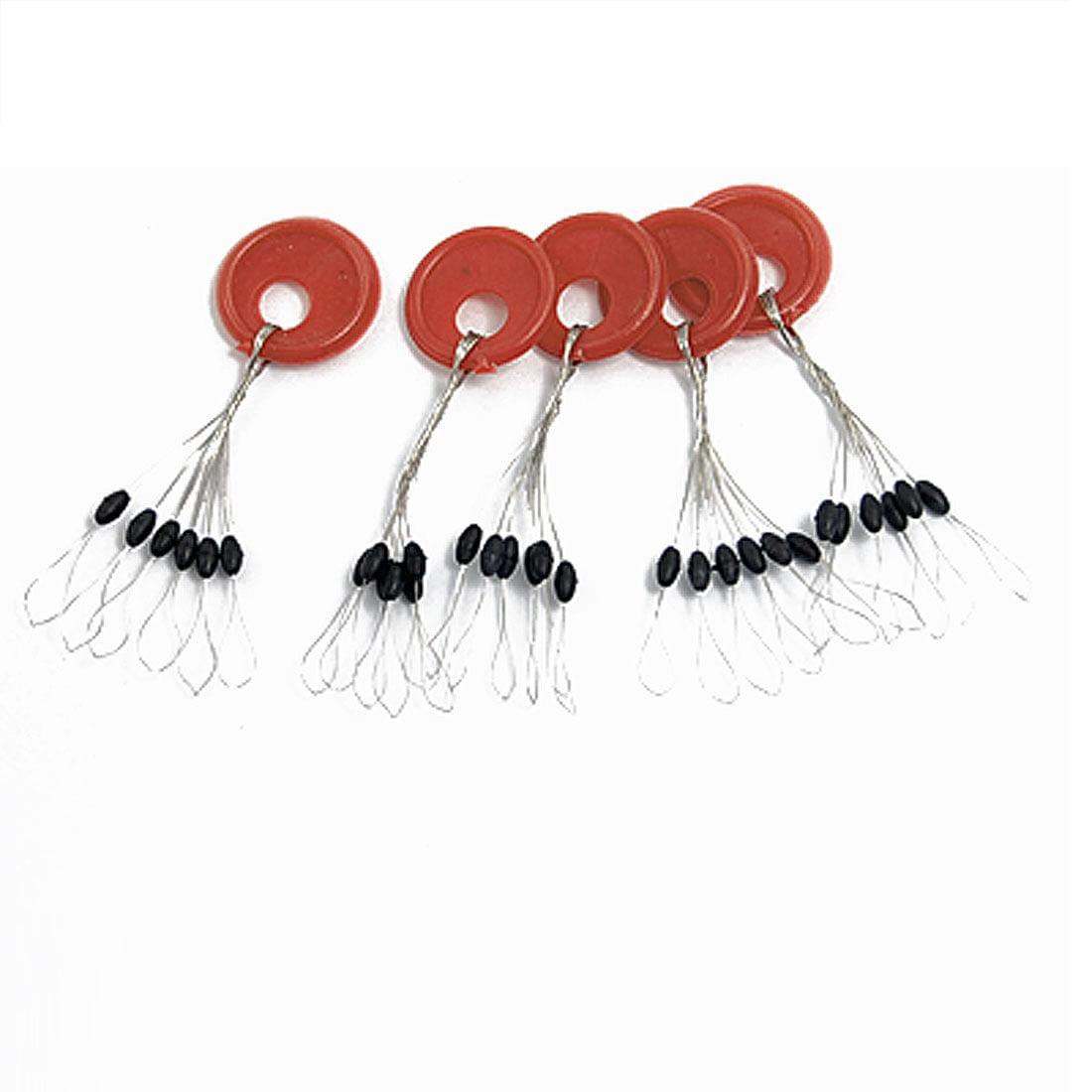 5 Pcs Mini 6 in 1 Black Plastic Bobber Fishing Tackle by