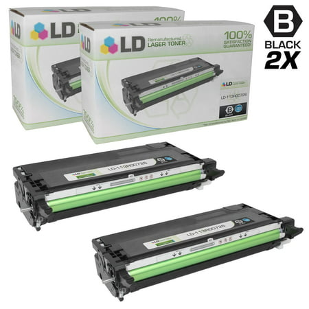 Compatible Replacements for Xerox Phaser 113R00726 Set of 2 High Capacity Black Laser Toner Cartridge for use in the Phaser 6180, 6180DN, 6180MFP, 6180MFP/D, 6180MFP/N & 6180N Printers ()