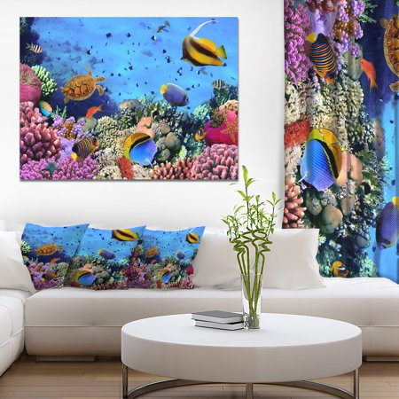 Coral Colony on Reef Egypt - Oversized Animal Wall Art - image 3 de 3