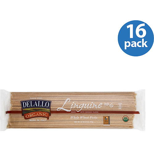 (16 Packs) DeLallo 100% Organic Whole Wheat Linguine Pasta, 1lb - $2.92/lb