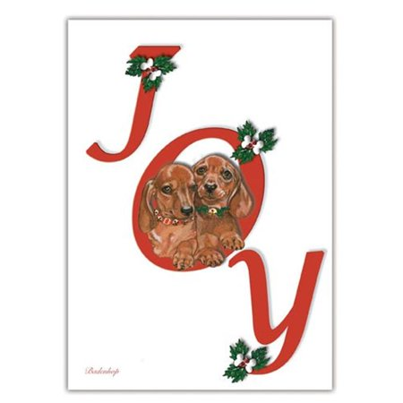 Pipsqueak Productions C571 Dachshunds Joy Christmas Boxed Cards - Pack of 10](Dachshund Halloween Cards)