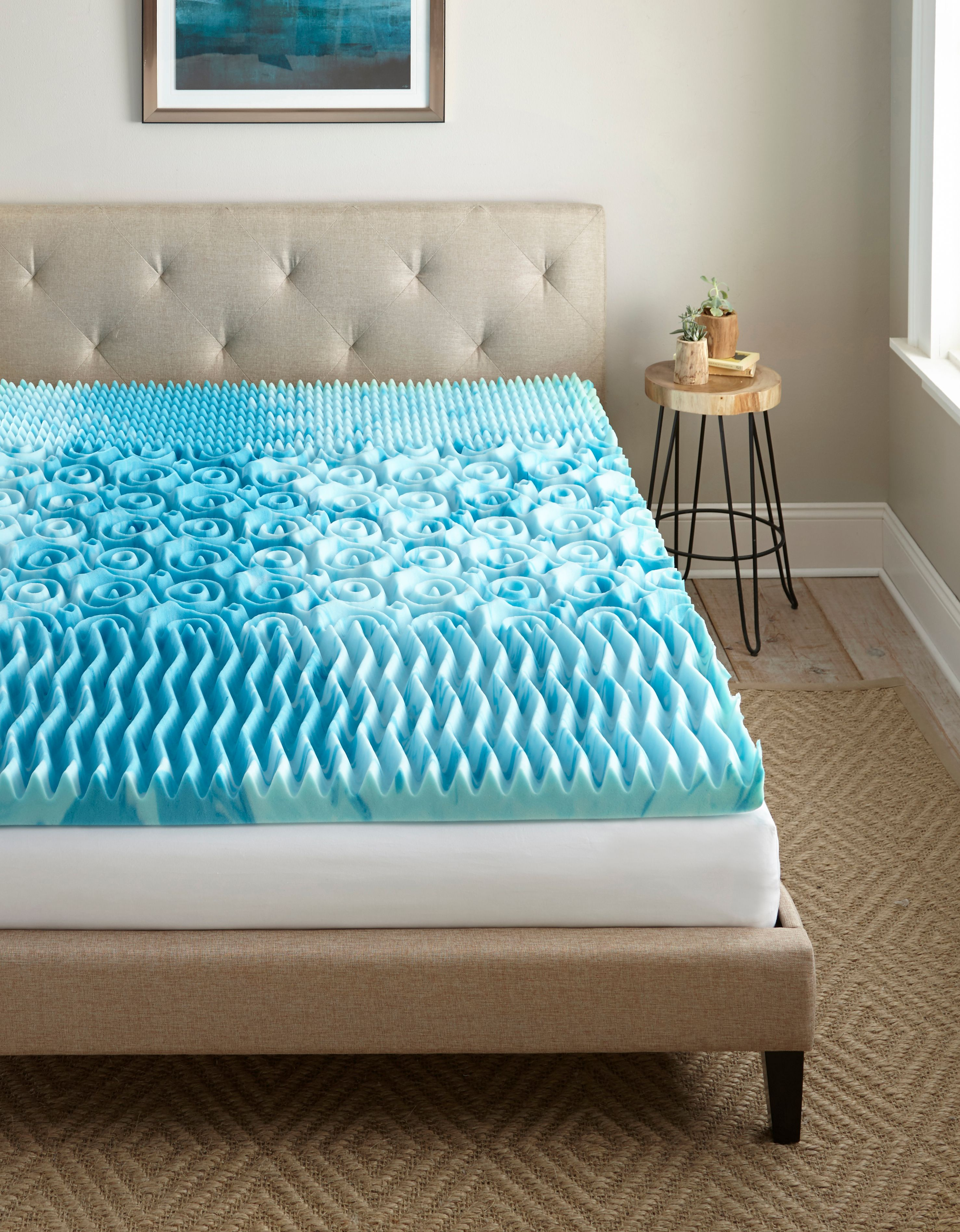 Mattress Topper Twin XL Size Orthopedic Pad Cooling Gel Bed Cover Hypoallergenic