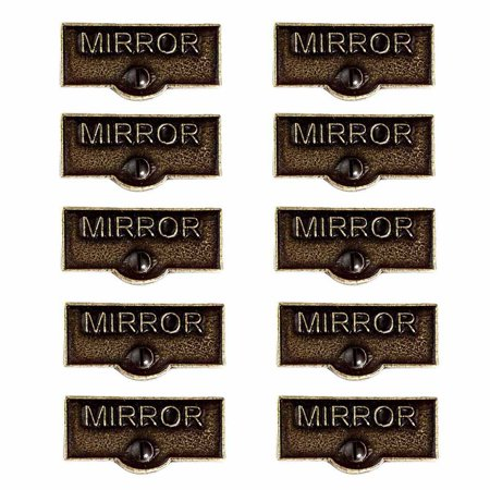 10 Switch Plate Tags MIRROR Name Signs Labels Cast Brass