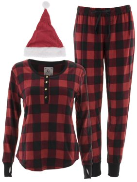 Product Image PJ Couture Women s Red Plaid Pajamas and Santa Hat 4df57dab8