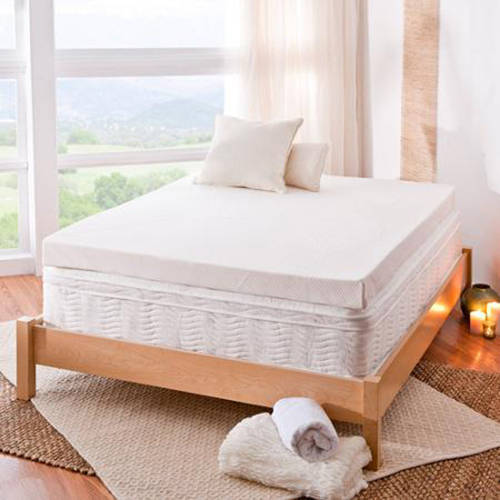 "Spa Sensations 4"" Memory Foam Mattress Topper, Multiple Sizes, with Theratouch"