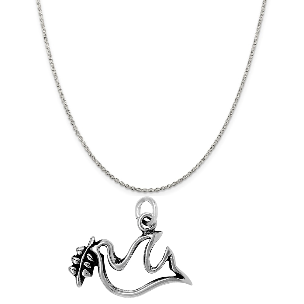 16, 18 or 20 Chain Raposa Elegance Sterling Silver Flip Flops Charm Necklace