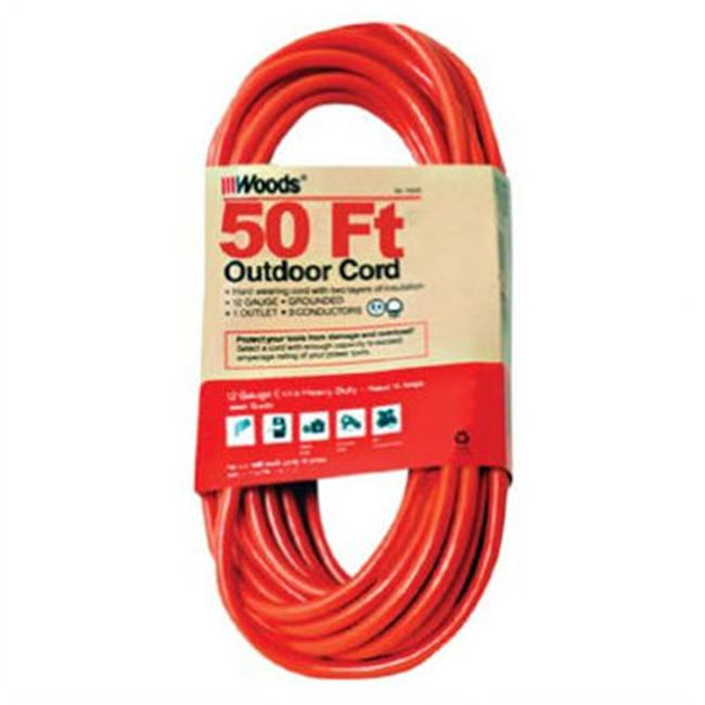 Woods Wire 860-529 12-3 50' Outdr Ext Cord