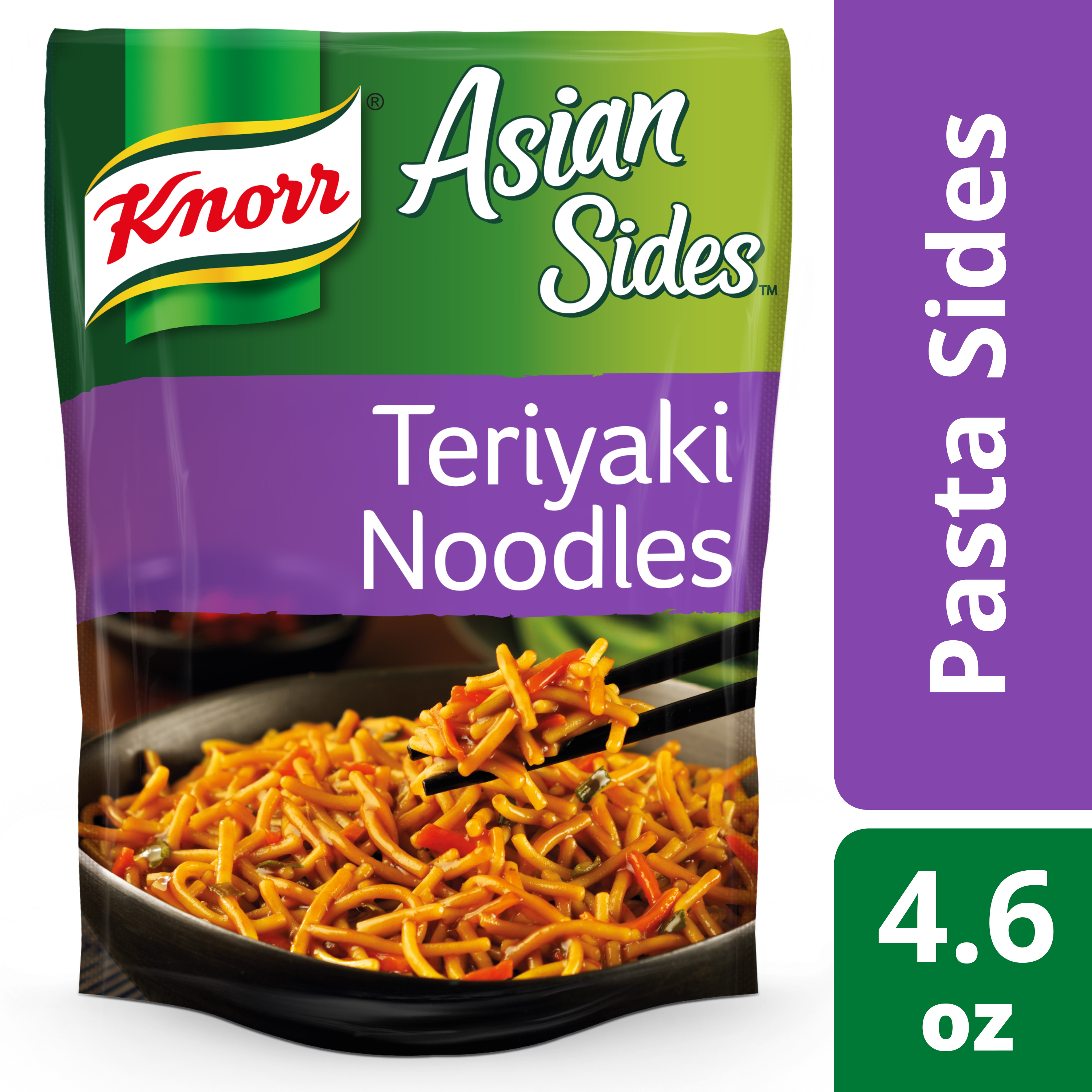 Knorr Teriyaki Noodles Asian Pasta Side Dish 4.6 oz