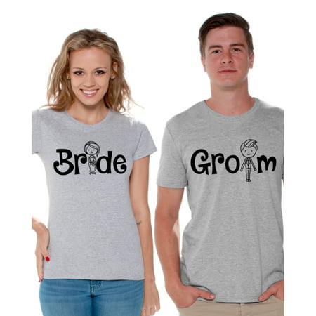 5d1152d287 Awkward Styles Couple Shirts Bride Groom Matching Shirts Perfect Gift for  Proposal Bachelorette Party Shirts Bride Groom T-Shirts for Couples Cute  Couple ...