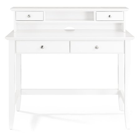 White Desks Hutch - Campbell Writing Desk with Hutch in White Finish