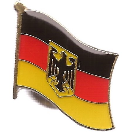 PACK of 3 Germany Eagle Single Flag Lapel Pins, German Eagle Pin - Germany Lapel Pin
