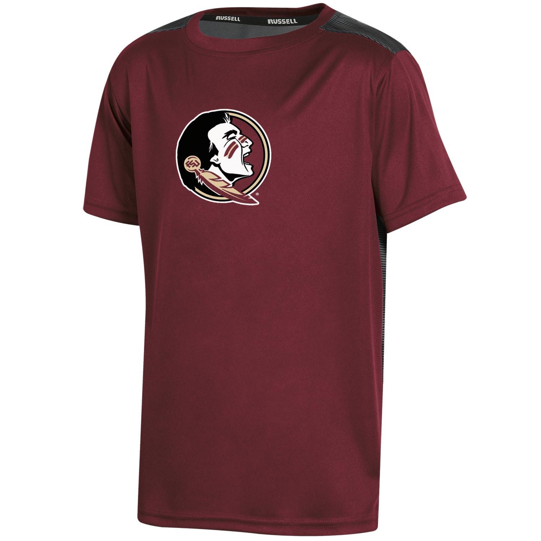 Youth Russell Garnet Florida State Seminoles Color Block T-Shirt