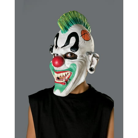 New Adult's Punk'd Evil Clown Vinyl Costume Accessory Mask](Scary Clowns Makeup)