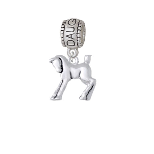 Prancing Horse - Daughter Charm Bead