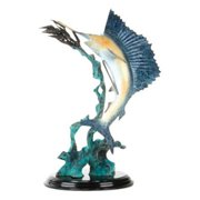 San Pacific International 12H in. Blue Water for Sale Sailfish Statue