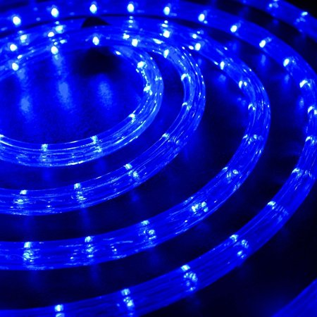 Wyzworks 10 20 25 50 100 150 Ft Feet Blue Led Rope Lights 2 Wire Accent Holiday Christmas Party Decoration Lighting Ul Certified
