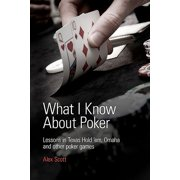What I Know about Poker : Lessons in Texas Hold'em, Omaha, and Other Poker Games
