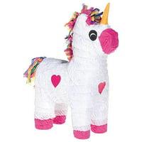 Unicorn Pinata, White & Pink, 13in x 18in