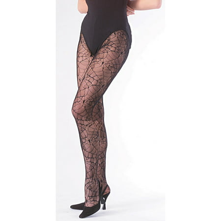 Womens Spiderweb Tights Halloween Costume Accessory