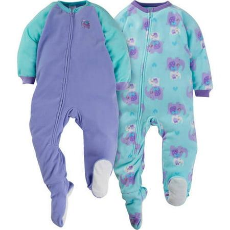 Gerber Childrenswear LLC - Baby Toddler Girl Microfleece Footed Blanket  Sleeper e4dc2edf6