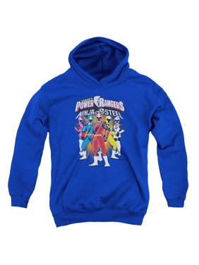 Power Rangers - Team Lineup - Youth Hooded Sweatshirt - Small