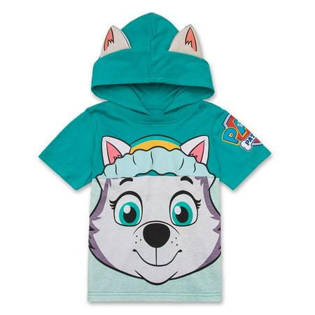 Nickelodeon Paw Patrol Hooded Shirt: Skye, Everest - - Fitted Hooded Girls Shirt
