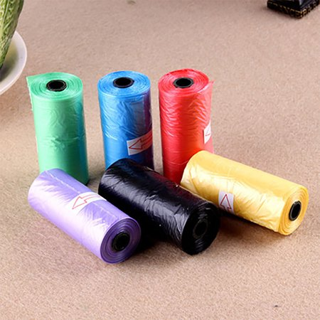 5Roll Degradable Pet Dog Waste Poop Bag With Printing Doggy Bag