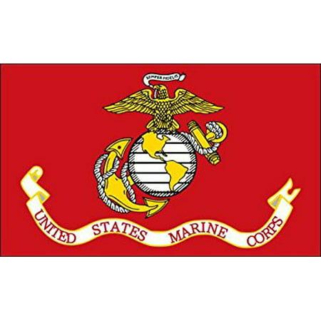United States Marine Corps Flag Sticker Decal (usmc semper fi) Size: 3 x 5