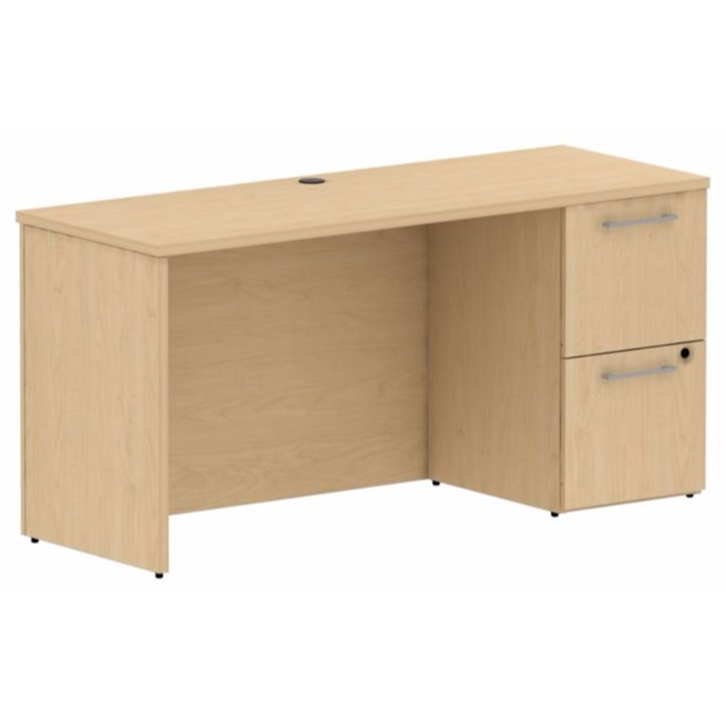 "Bush Business 300 Series 60"" Single Pedestal Credenza in Natural Maple by"