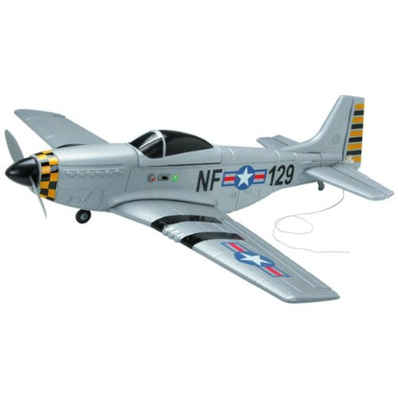 4 Channel Radio Controlled P51 Mustang Airplane PRE-BUILT with Wingspan 27 Inch by