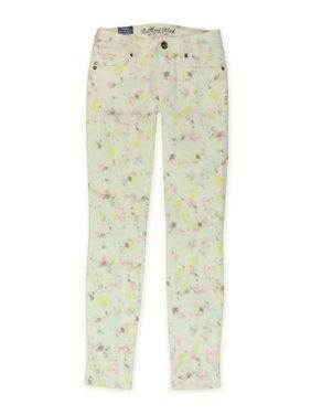 Bullhead Denim Co. Womens Galaxy Splash Skinny Fit Jeans, Off-White, 0